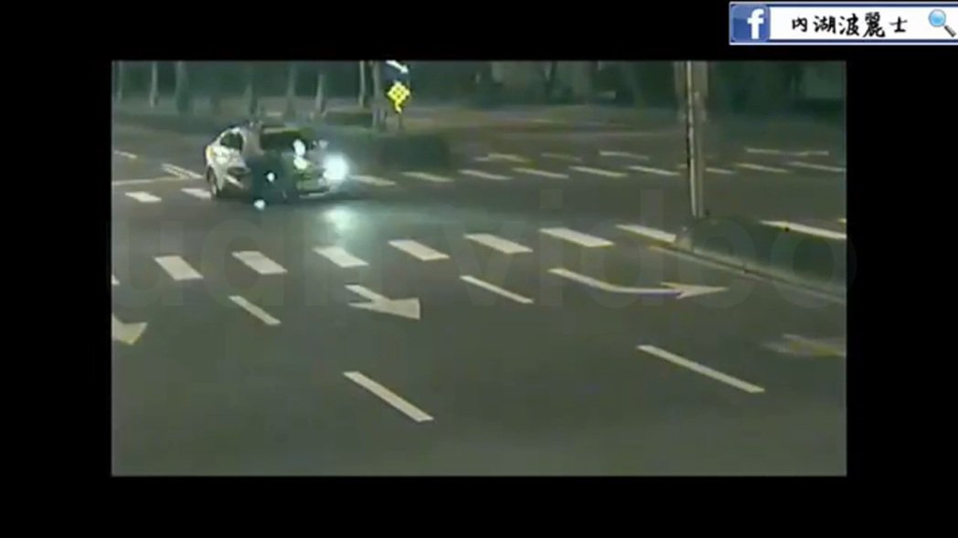 台北市內湖警分局製作宣導影片,以實際案例解說超速危險性。 圖/台北市內湖警分局提...
