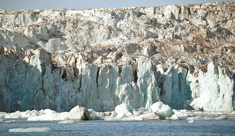 瑞典最高峰因氣候暖化而改變。圖為冰川示意圖。 路透