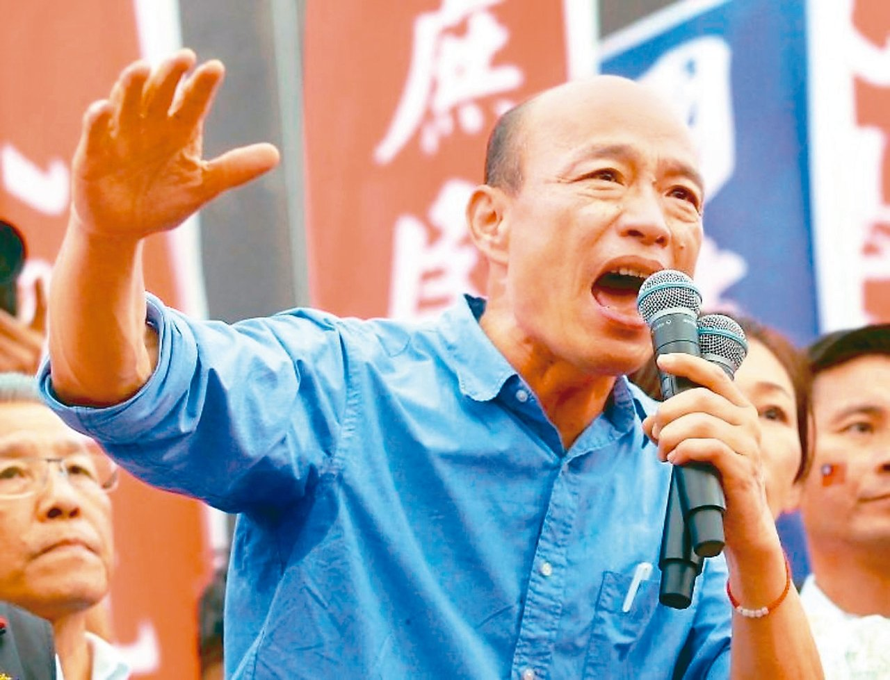 國民黨總統參選人韓國瑜明天將回故鄉新北市舉辦造勢大會。 圖/聯合報系資料照片