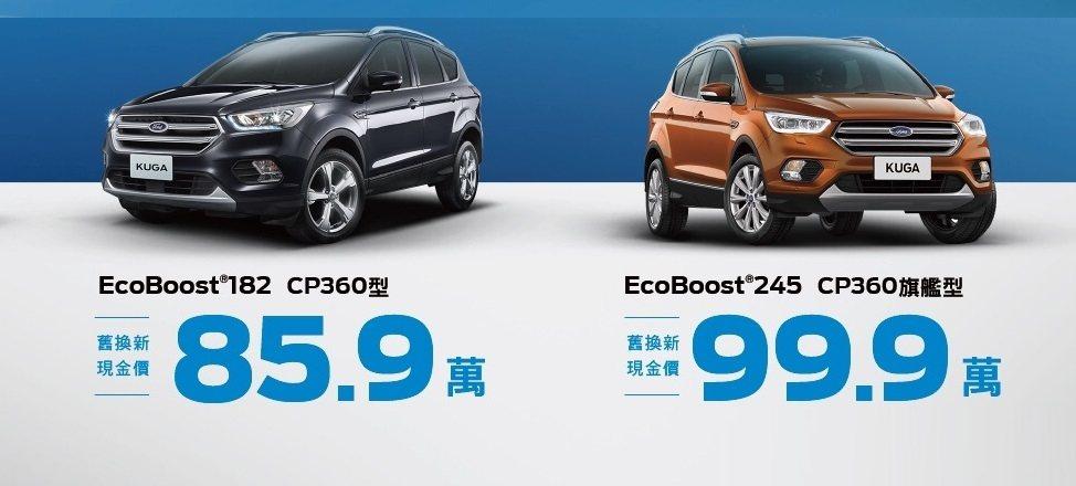 Ford Kuga於九月份持續提供舊換新現金價超優惠方案,再抽儲值1萬元珍藏限量...