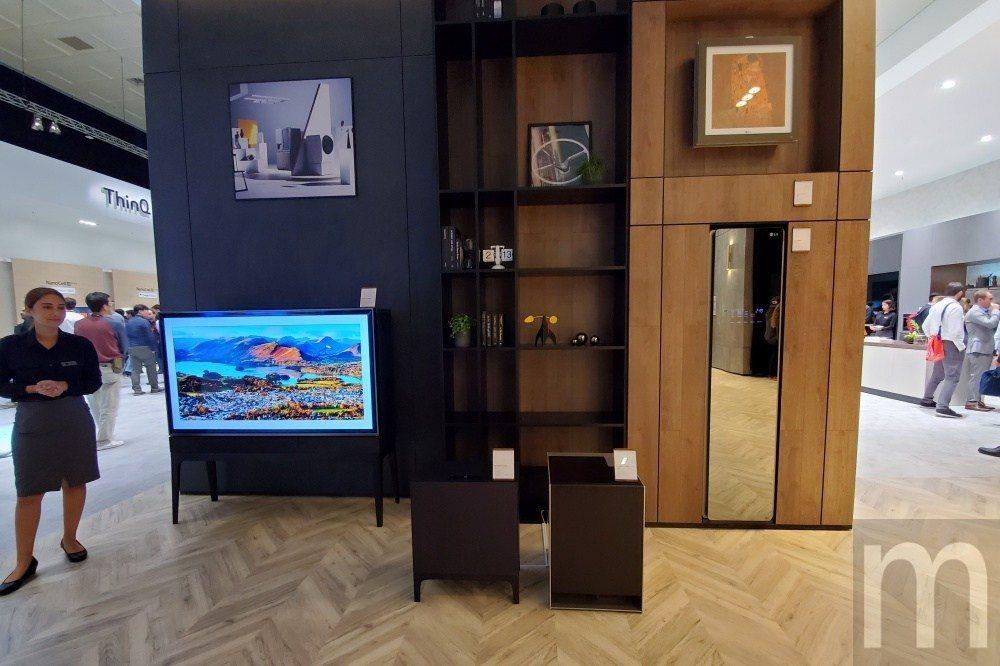 LG對於未來家電設計的想像,將會與傢俱結合,更能融入居家環境