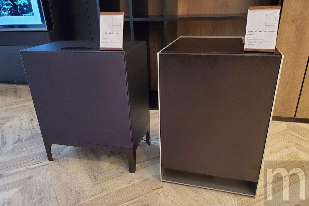 與矮桌設計結合冰箱、藍牙擴音音響