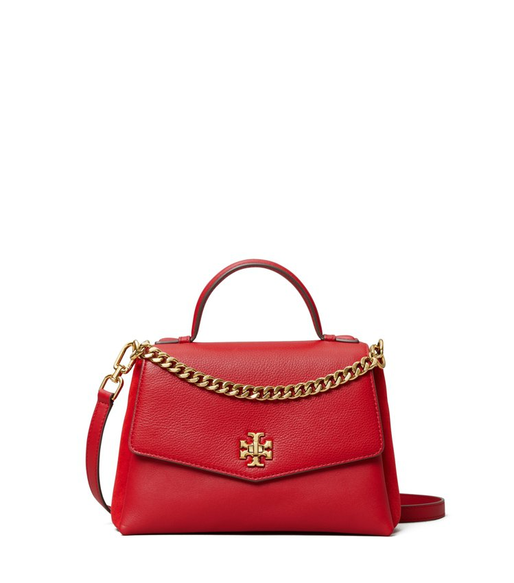 蘋果紅Kira手提肩背包,售價19,900元。圖/TORY BURCH提供