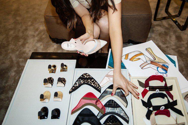 FENDI期間限定的訂製高跟鞋有7種不同鞋頭。圖/FENDI提供