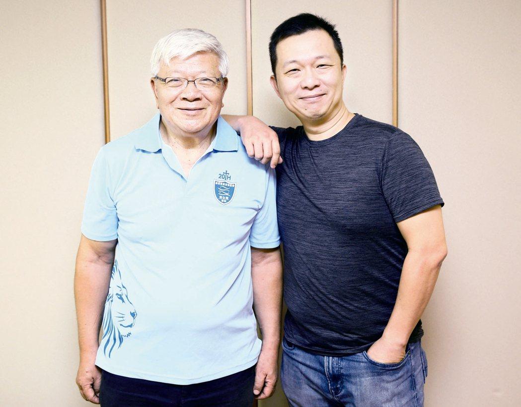 中華基督教福音協進會父子檔牧師夏忠堅(左)與夏昊霝(右)。 記者杜建重╱攝影