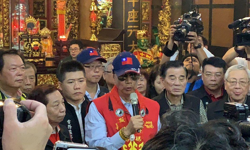郭台銘總統路從慈惠宮出發。圖/聯合報系資料照片