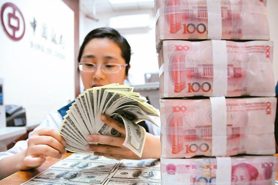 截至8月底,大陸外匯存底餘額為3.1兆美元,較7月底增加近35億美元。 本報系資...