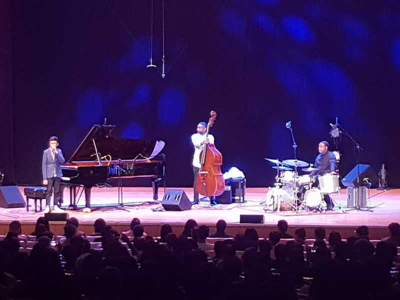 喬伊亞歷山大(左起)、克里斯馮恩、肯德里克斯科特帶來爵士饗宴,令國家音樂廳聽眾大呼過癮。(photo by祝潤霖/台灣醒報)
