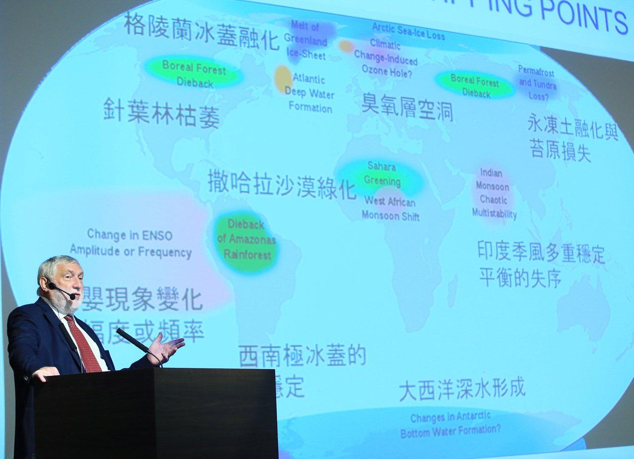 歐洲論壇主席法蘭茲.費雪勒(Franz Fischler)演講。記者潘俊宏/攝影