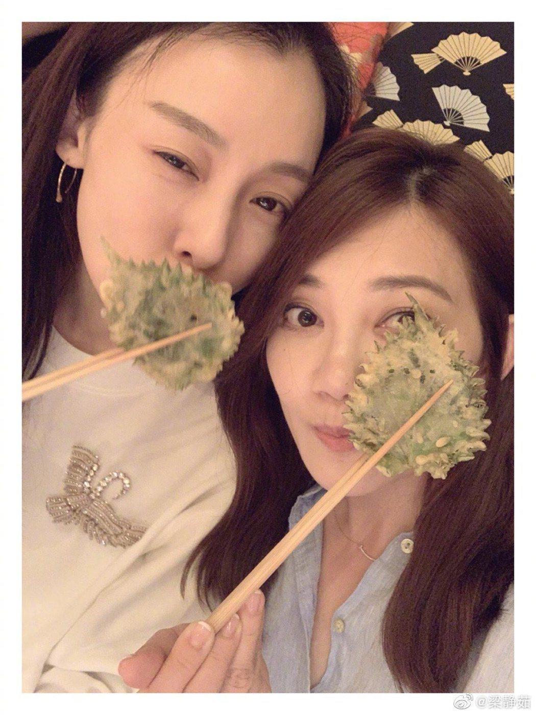 梁靜茹(右)跟范瑋琪是閨密。圖/摘自微博