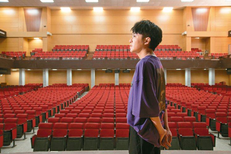 青峰重回師大附中,站上人生第一個舞台。記者陳立凱/攝影