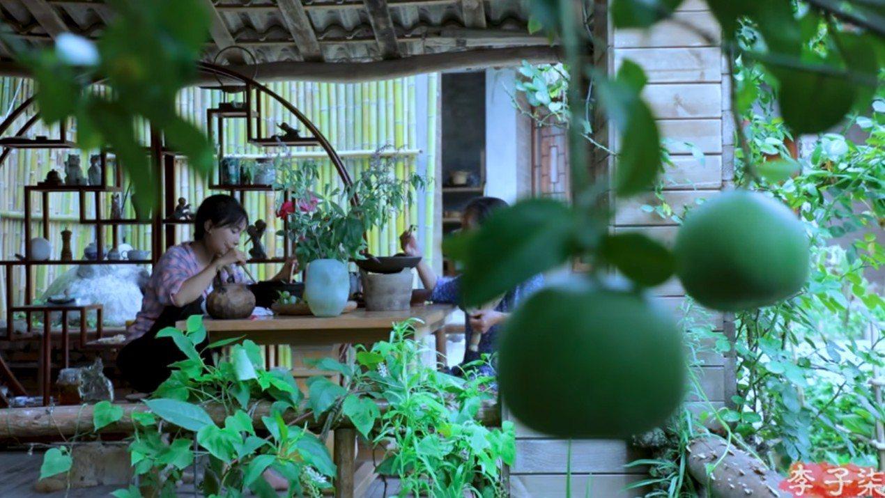 李子柒的影片強調「完全手工」,鏡頭美如畫。圖/取自李子柒YouTube