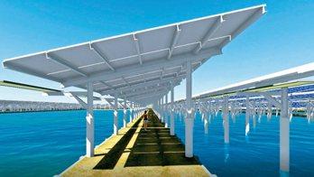 台鹽綠能發展漁電共生,要在台南700多公頃的漁塭上建太陽能板。 圖/台鹽綠能提供