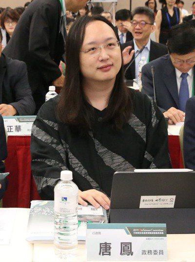 行政院政務委員唐鳳。 聯合報系資料照/記者林俊良攝影
