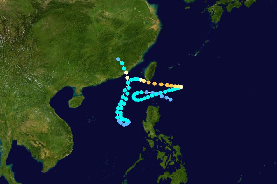 四大怪颱之一:1991年耐特颱風。 圖/維基共享,春山出版提供