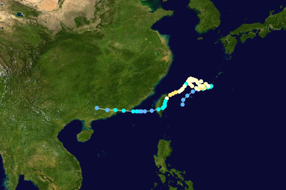 四大怪颱之一:2001年納莉颱風。 圖/維基共享,春山出版提供