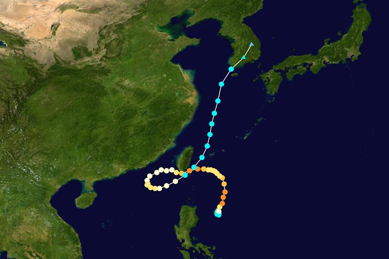 四大怪颱之一:2012年天秤颱風。 圖/維基共享,春山出版提供