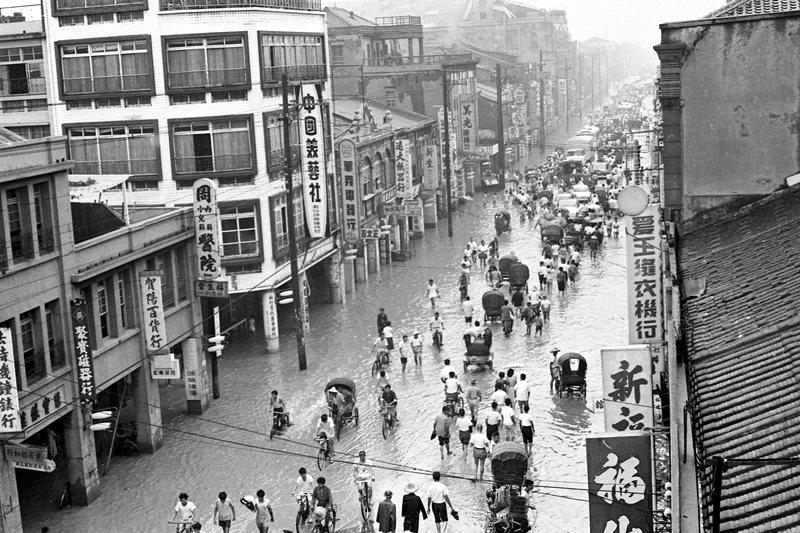 1963年葛樂禮颱風。 圖/聯合報系資料照