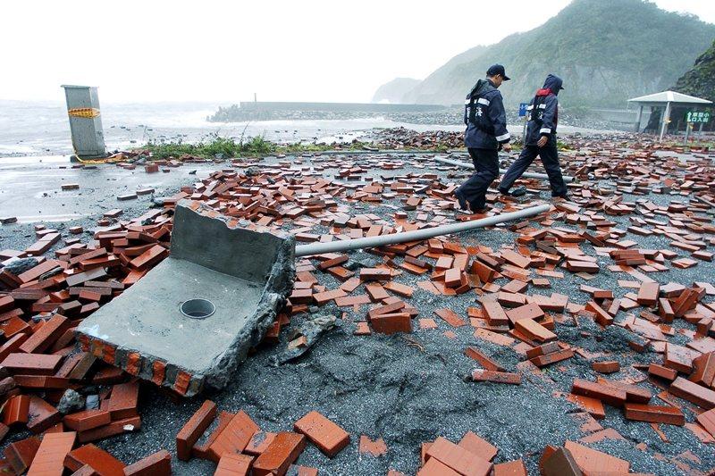 2005年海棠颱風。 圖/聯合報系資料照