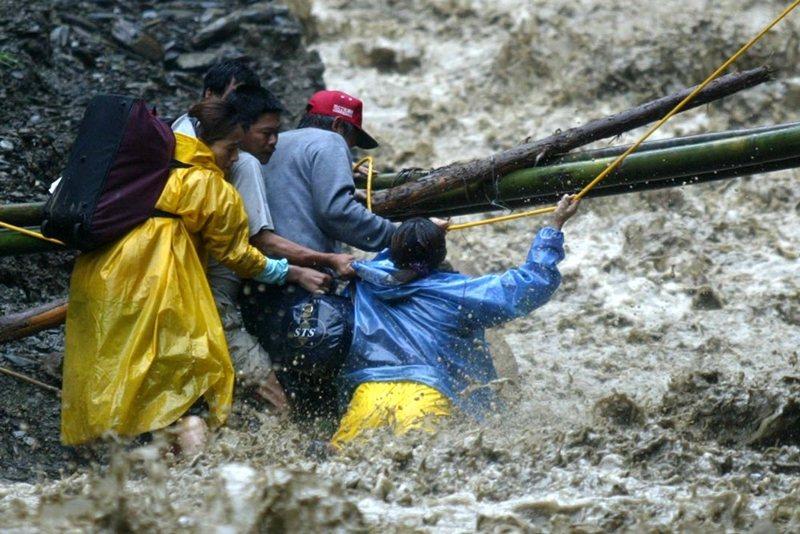 2004年敏督利颱風。 圖/聯合報系資料照