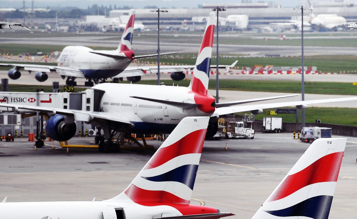 2019年9月9日,英國航空公司(British Airways)的機師工會,正...