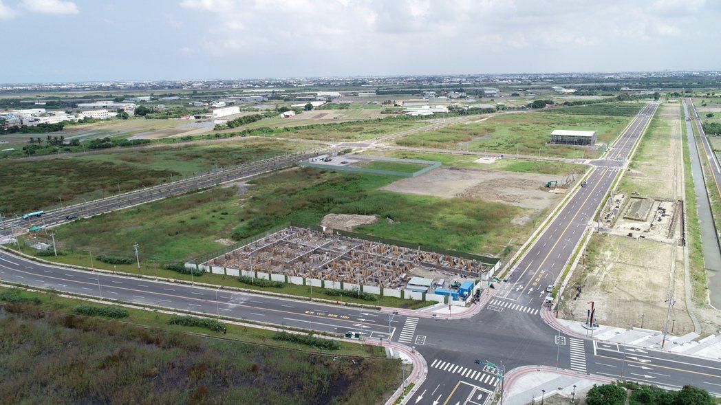 新吉工業區第五、六區空拍圖. 台南市經發局/提供