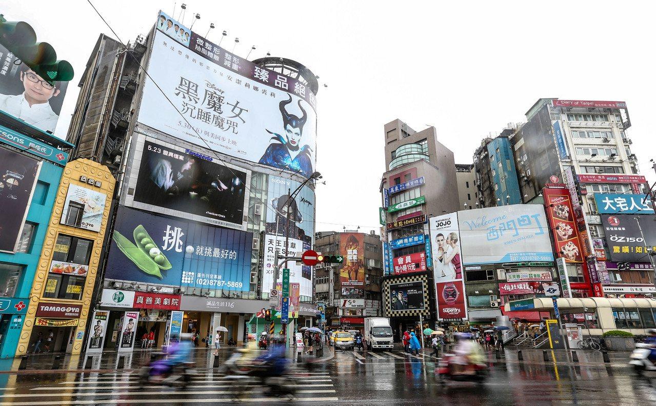 台北市萬華區西門町商圈。圖/聯合報系資料照片