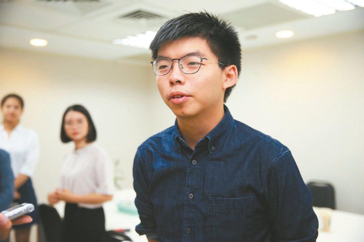 香港眾志秘書長黃之鋒。記者徐兆玄/攝影