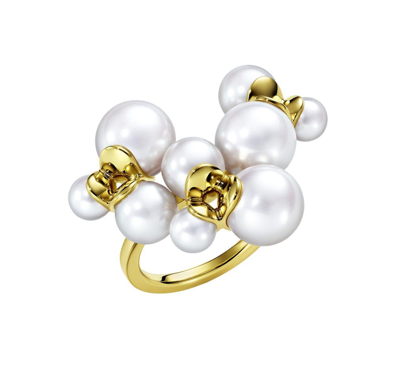 TASAKI M/G系列Illusion珍珠黃K金戒指,約13萬3,000元。圖...
