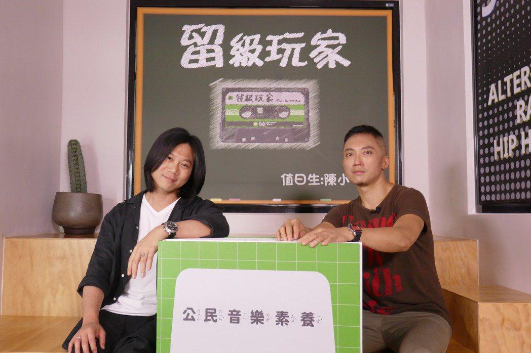 瑪莎(左)上「留級玩家」接受小樹訪問。圖/新視紀提供