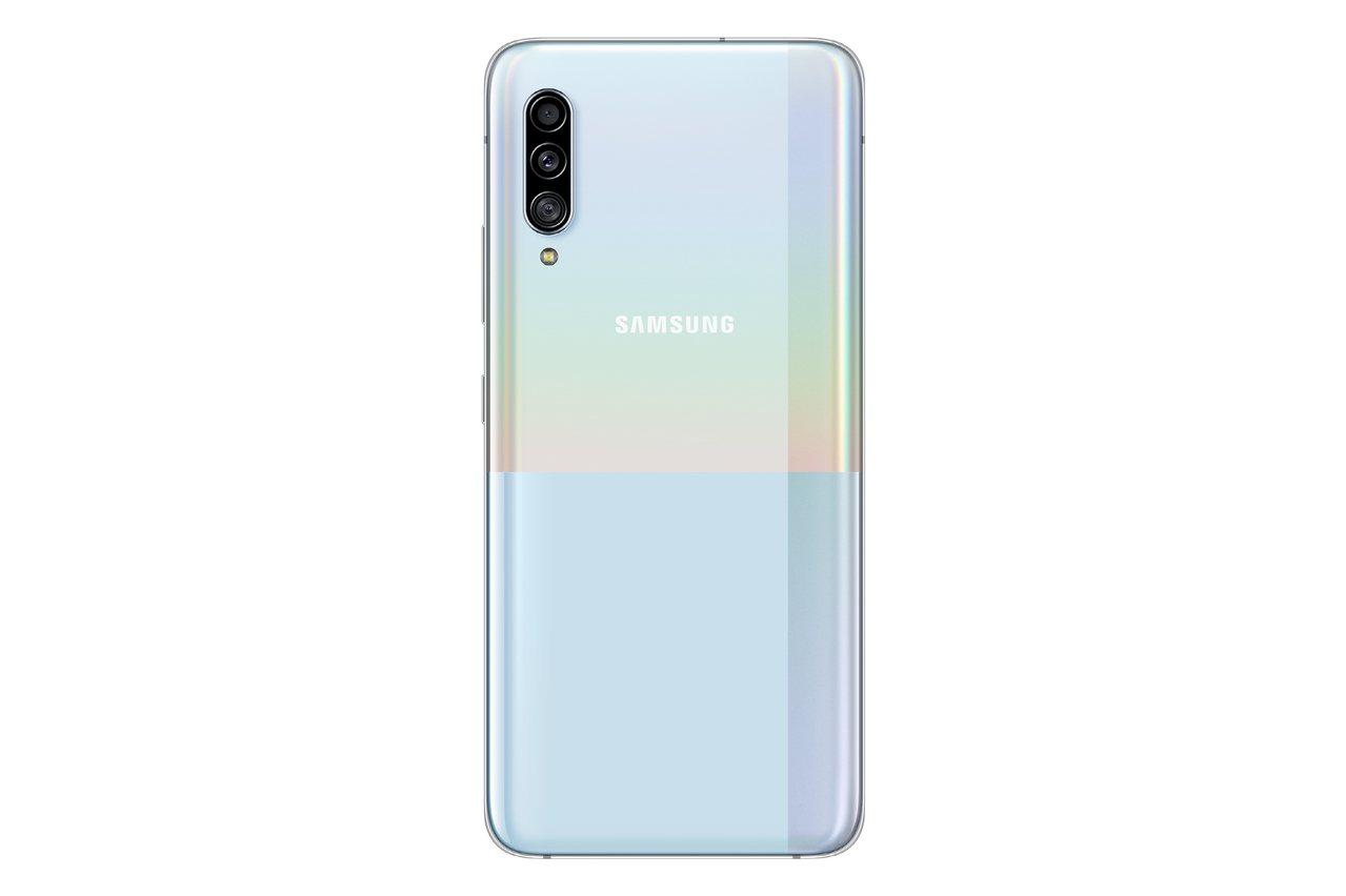 三星Galaxy A90 5G目前已在韓國開賣,將陸續在全球各地上市。圖/台灣三...