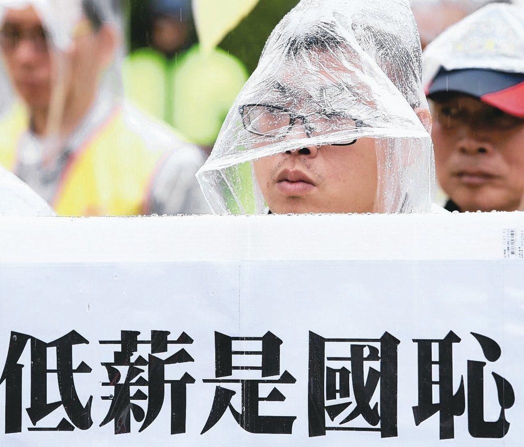 青年低薪一直是台灣社會關注焦點。報系資料照