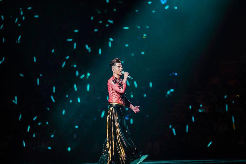 郭富城為演唱會勤奮彩排。圖/開麗娛樂提供