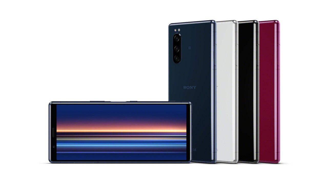 Xperia 5將會推出璃光黑、璃光灰、璃光藍及璃光紅4色,預計2019年10月...