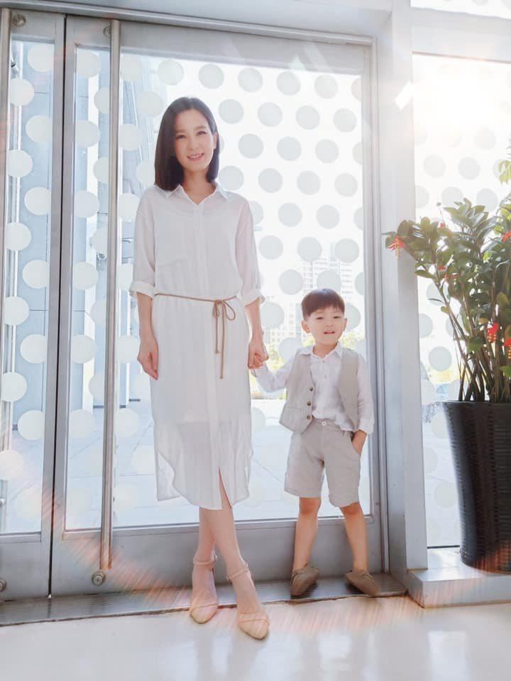 楚宣和戲中兒子豆豆宛如親母子。圖/摘自臉書
