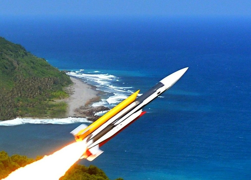 外傳中科院以雄三飛彈為基礎研發雲峰飛彈,圖為雄三飛彈。 圖/中科院提供