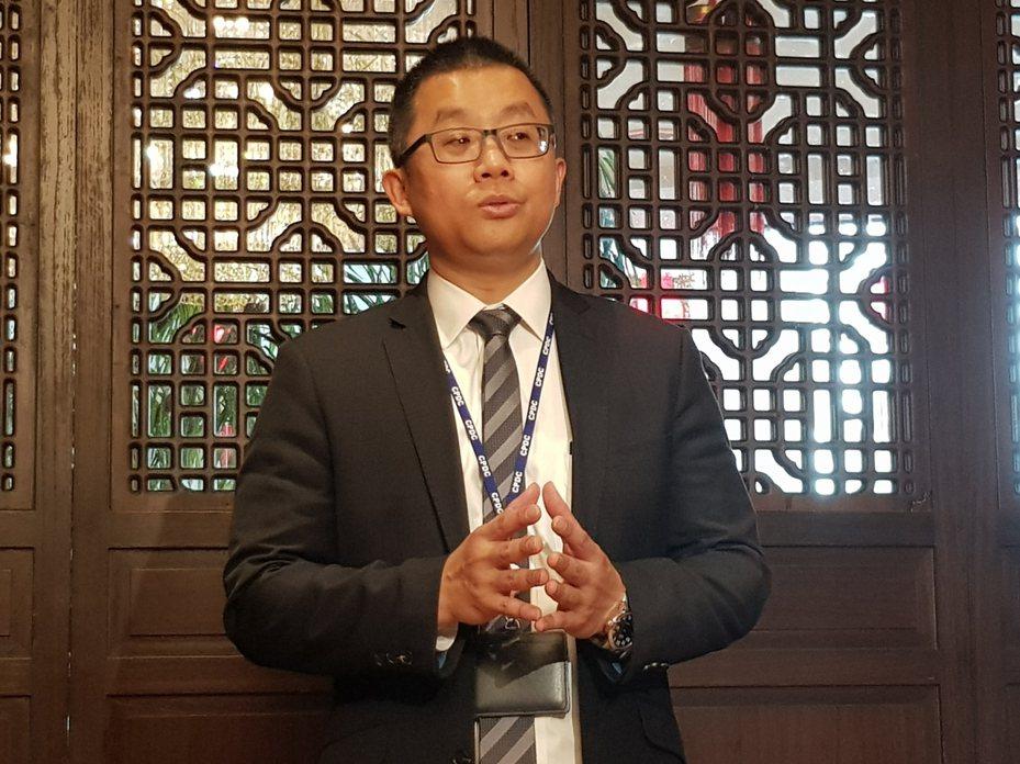 中石化副總暨發言人陳穎俊。 記者曾仁凱/攝影
