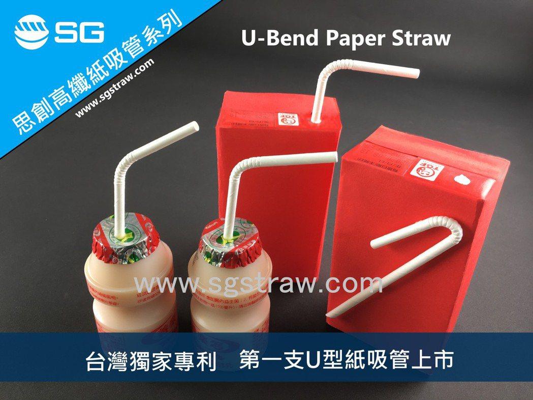 「鋁箔包專用U型可彎曲紙吸管」可彎曲180度,非常適用於個人規格包裝的牛奶或飲料...