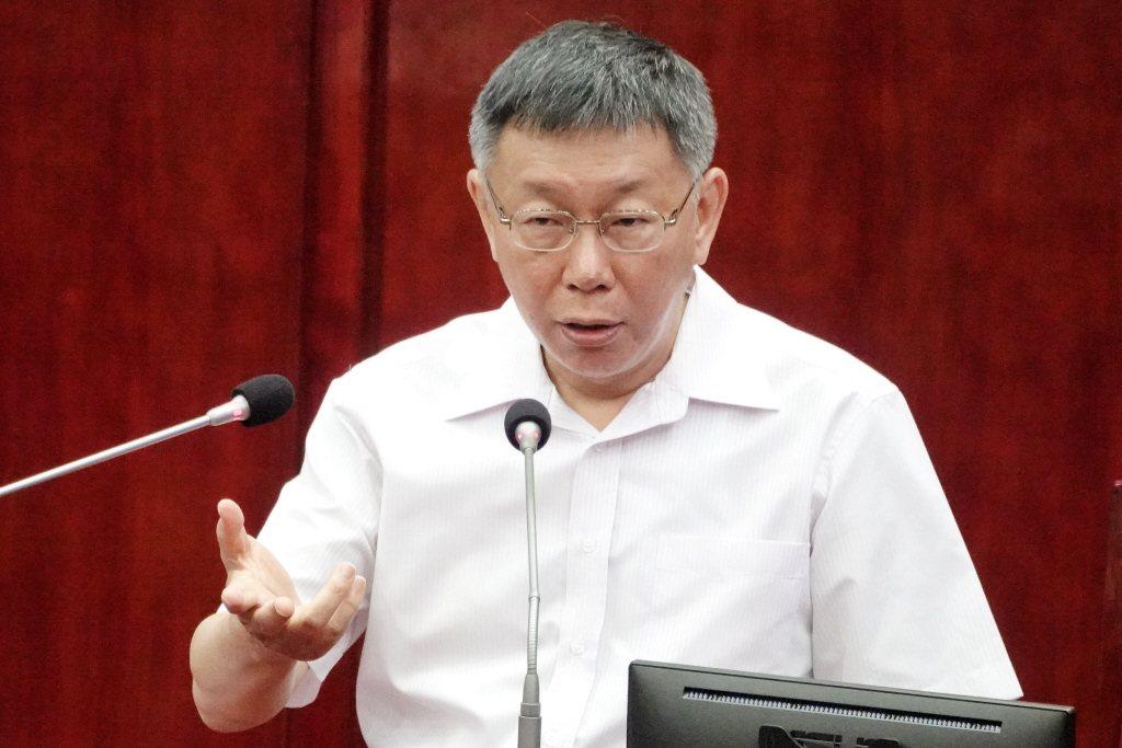 台北市長柯文哲11、12日赴市議會施政報告。 聯合報系資料照片/記者林伯東攝影