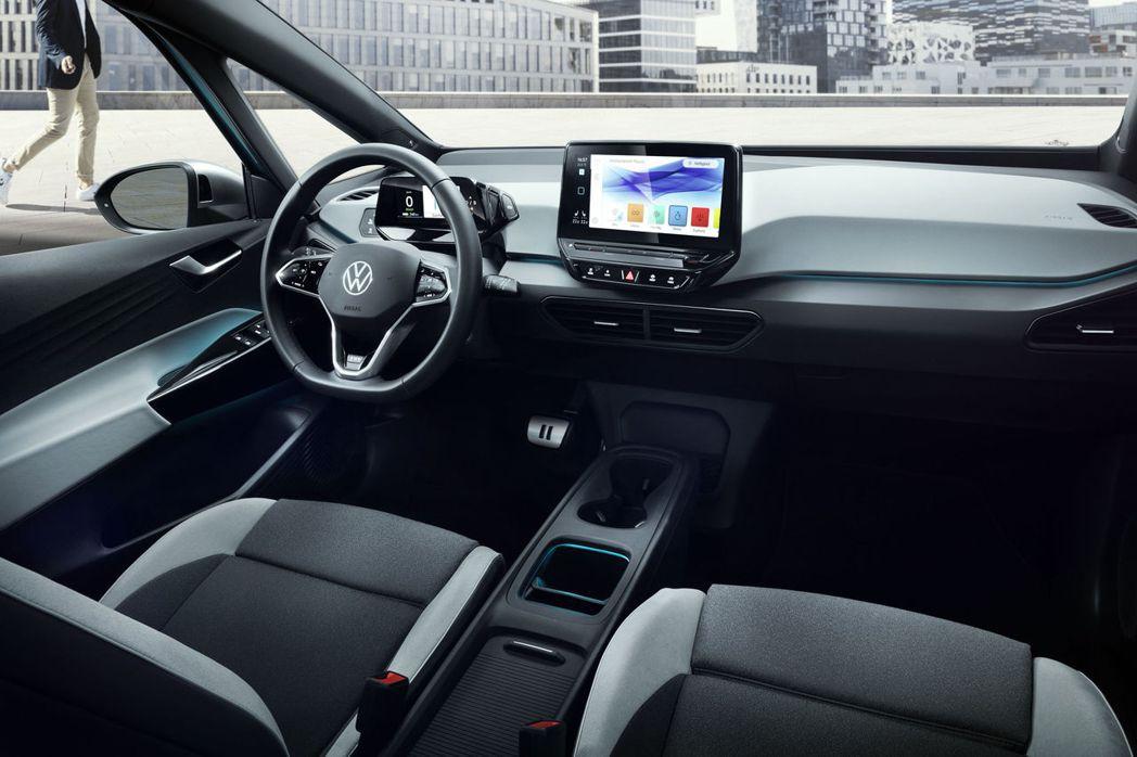 Volkswagen ID.3 內裝相當精簡。 摘自Volkswagen
