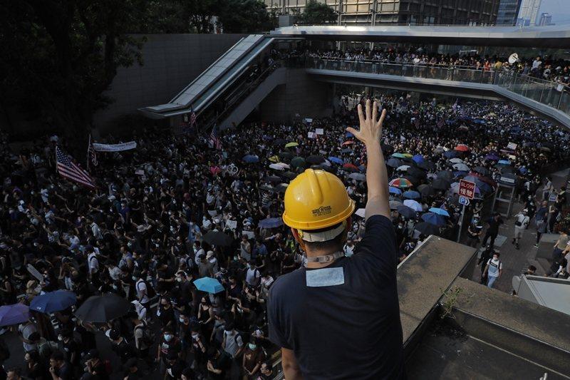攝於9月8日,香港。 圖/美聯社