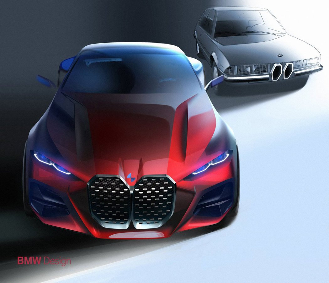 BMW Concept 4水箱護罩其實是與3.0 CSi致敬。 摘自BMW