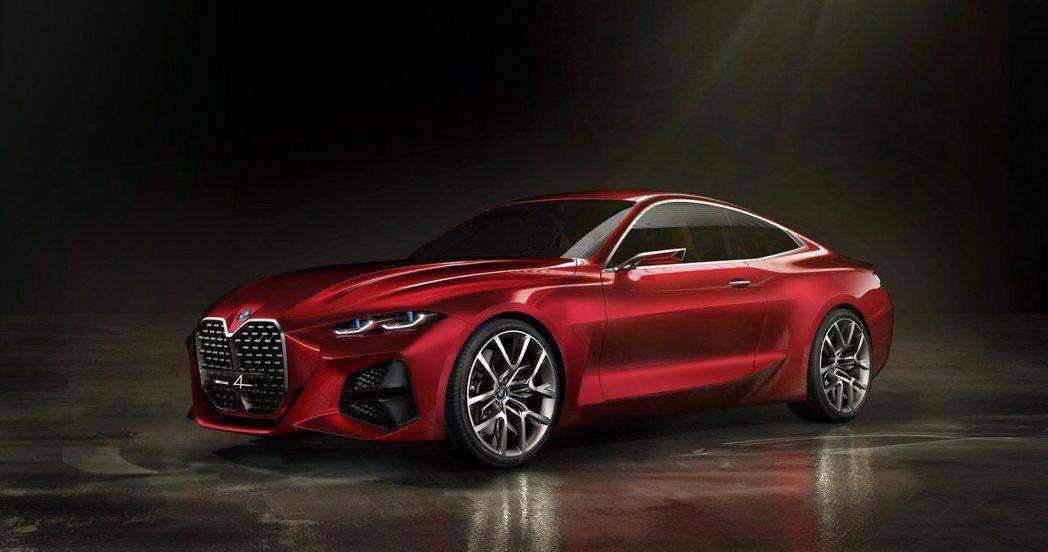 BMW Concept 4的大鼻孔相當具有話題性。 摘自BMW