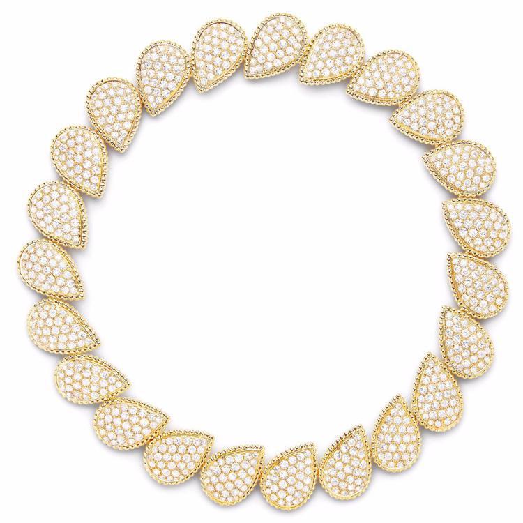 寶詩龍高級珠寶系列Serpent Boheme項鍊,黃K金鑲嵌鑽石28.92克拉...
