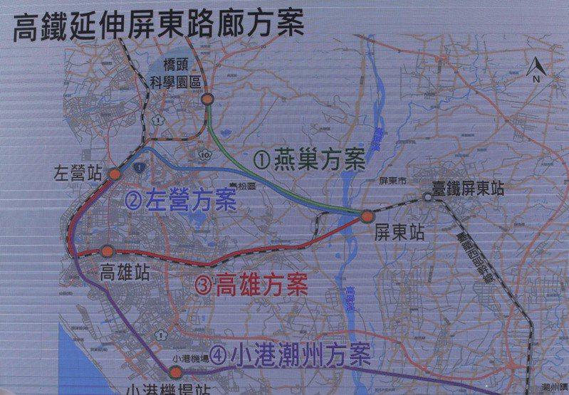 高鐵南延屏東路線,地方傾向左營延伸六塊厝,未來站址可能設在六塊厝農場。記者劉學聖/攝影