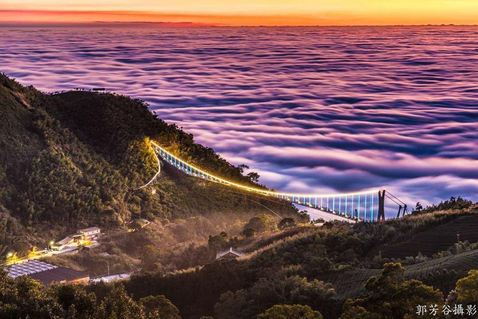 冬天的太平雲梯雲海。圖/郭芳谷提供
