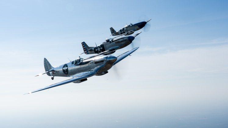Silver Spitfire銀色噴火戰鬥機預計將於9月底停駐台北松山機場。圖/...
