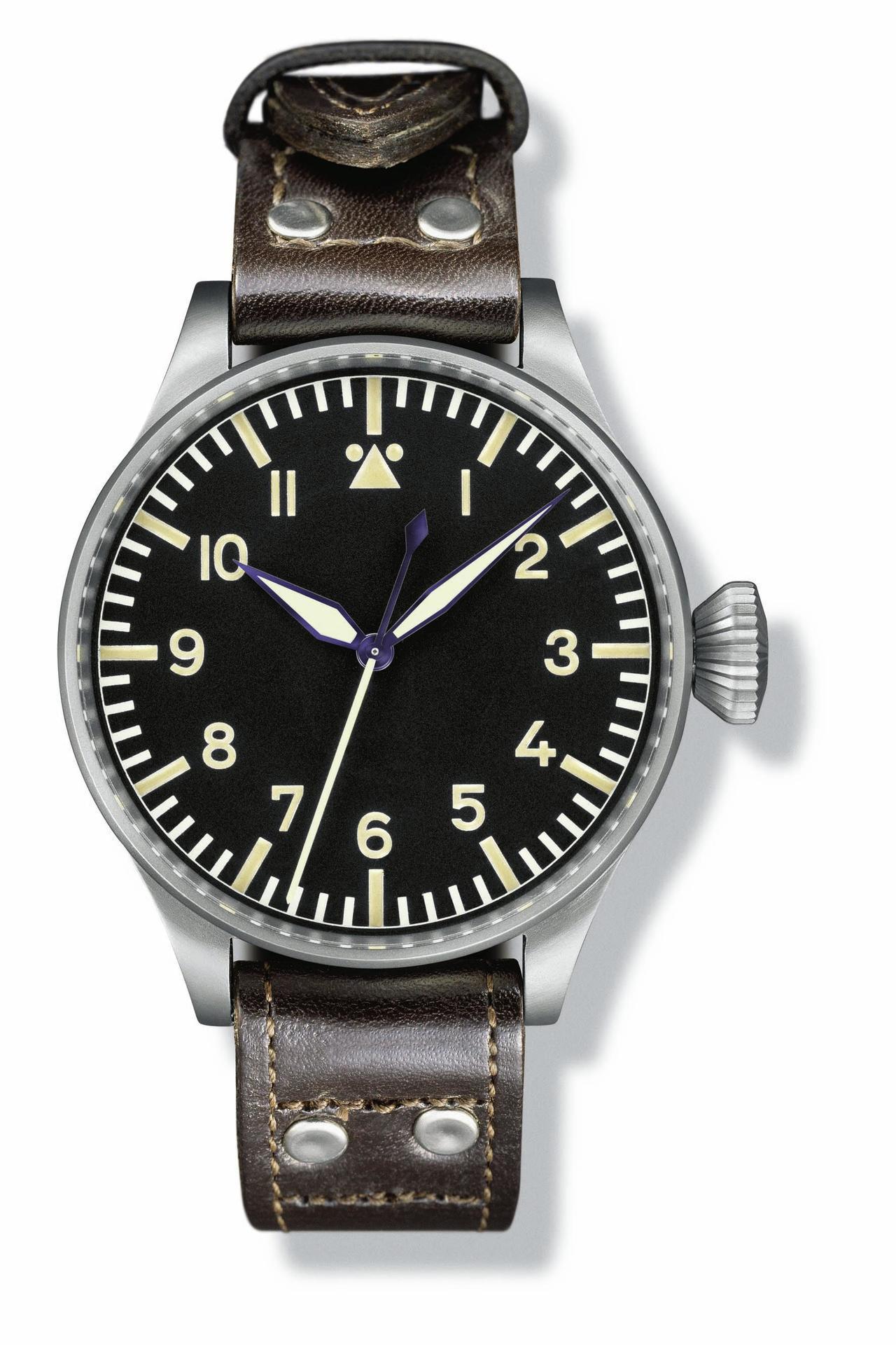 大型飛行員腕表(1940年),搭載H/52 T.S.C.型機芯,型號IW431,...