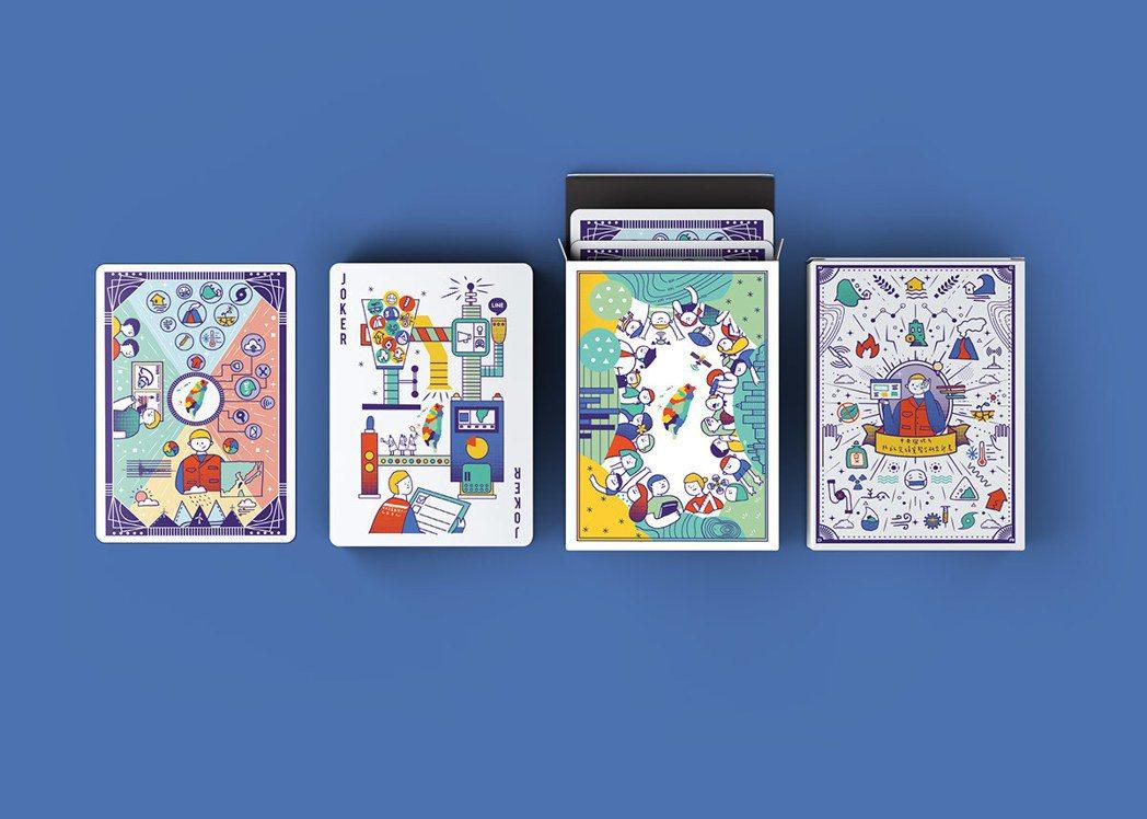 江坤森結合防災知識,設計撲克牌《Poker Illustration Disas...