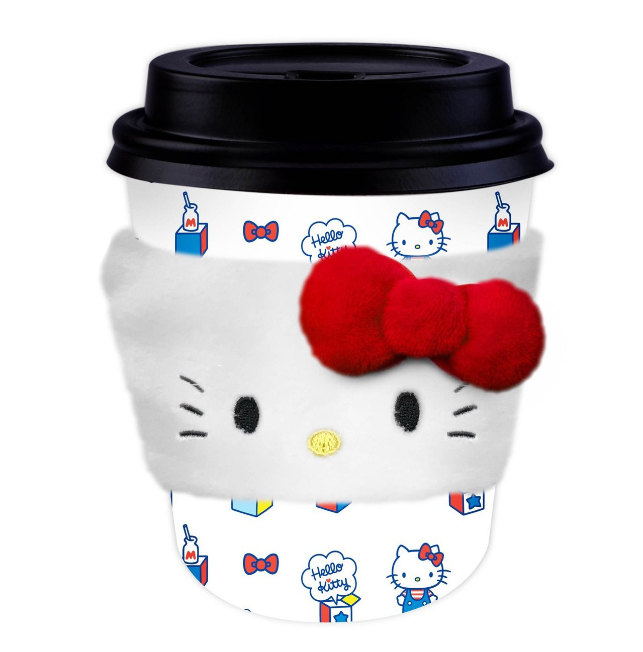 Hello Kitty暖心隔熱杯套,全家便利商店9月11日至10月8日購買指定品...